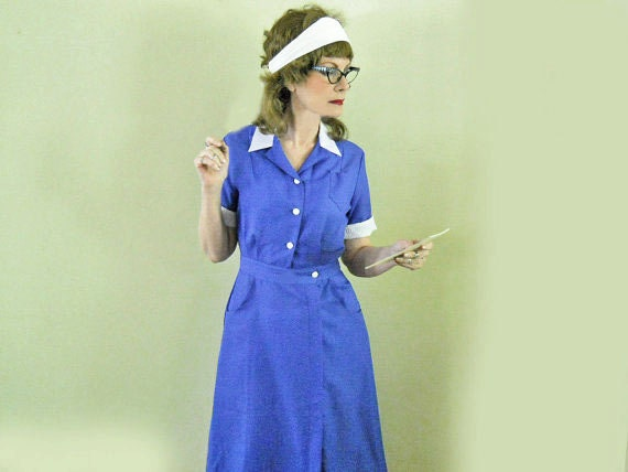 50s Waitress Uniform // Maid Uniform // Costume // Rockabilly // 1950s Retro Diner // NO Charge for Shipping