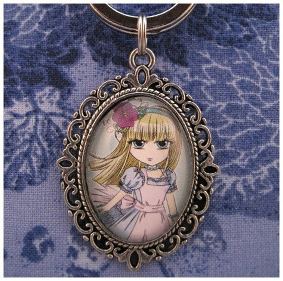 SALE - Alice in Wonderland ALICE keychain