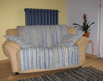 Handwoven rag rug  - furniture covering,decorative pillows-  MADE TO ORDER