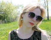 Purple Round Sunglasses 90s 80s