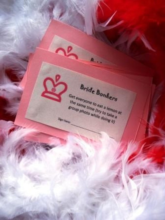 Custom PDF-Bachlorette Party Game-Memory Maker- Bride Bonkers