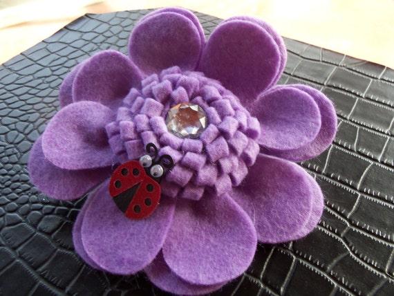 Big Purple Flower Pin