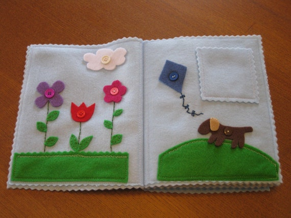 LAST IN INVENTORY - Four Seasons Felt Activity Quiet Book - Perfect for a Christmas gift, trips, or new quiet toy