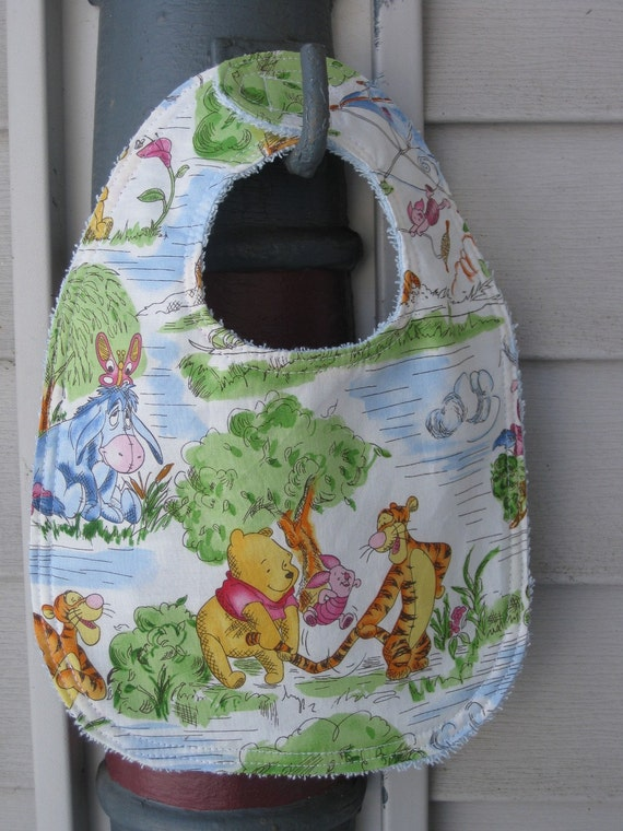 Winnie the Pooh and Friends Baby Bib - READY TO SHIP