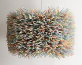 The Delmonico Drum Shade - Colorful Drinking Straw Pendant - Shade ONLY