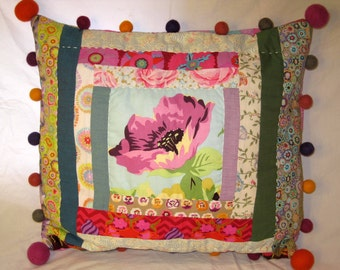 Patchwork quilted pillowcase