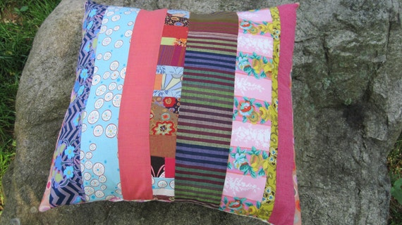 Scrappy Patchwork Pillow Cover