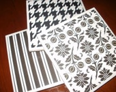 Trivets...Set of 3...Black and White