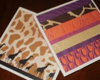 Sale...Giraffe Trivets...Set of 2...Hotplates or Candle Coasters