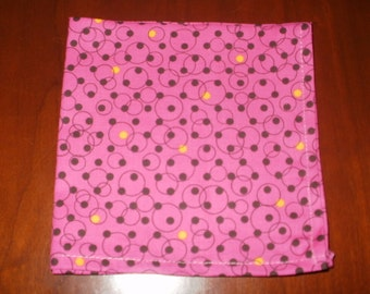 Sale...6 Magneta Lunchbox Napkins...12.5 inches...Stitched Hems NOT Serged...FREE SHIPPING