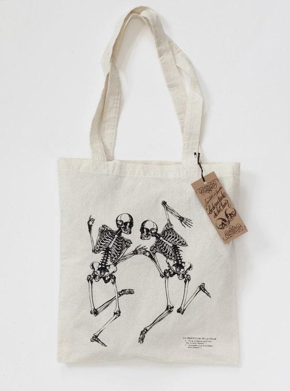 Bon Matin Tote Bag Skeleton No 4