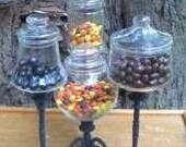 Spooky Candelabra Candy Jar Centerpiece