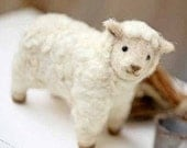 DIY Felted wool SHEEP KIT Japanese craft kit by Hamanaka