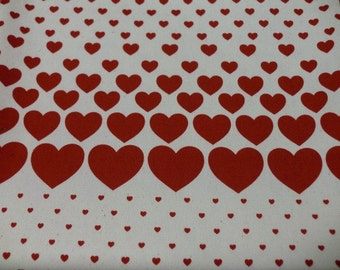 Sale Japanese fabric heart printed half  yard