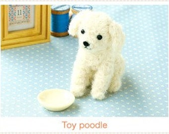 DIY Needle wool felt Toy poodle KIT Japanese craft kit