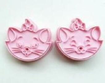 Marie  Cat  2 cookie cutters