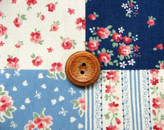 Patchwrok printed fabric navey blue  color half yard