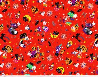 Halloween party fabric orenge color half yard