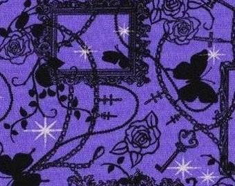 Gothic design Japanese fabric half yard