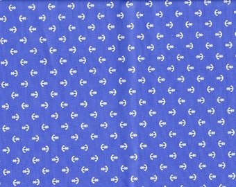 FQ Anchor printed fabric blue color