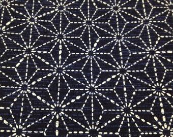 Japanese kimono cotton fabric Sashiko design 100cm x 93cm