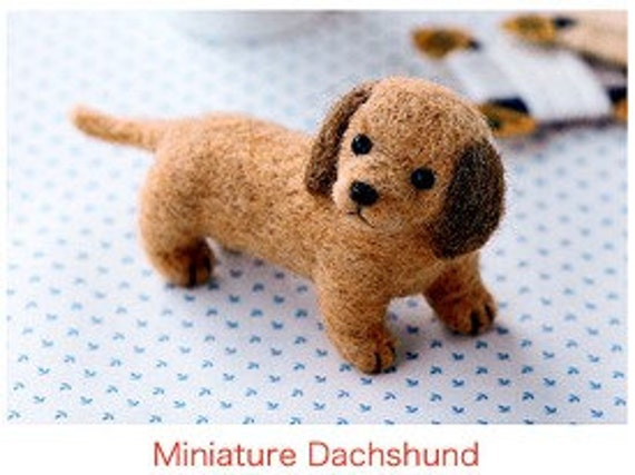 DIY Needle wool felt Miniature dachshund KIT Japanese craft kit