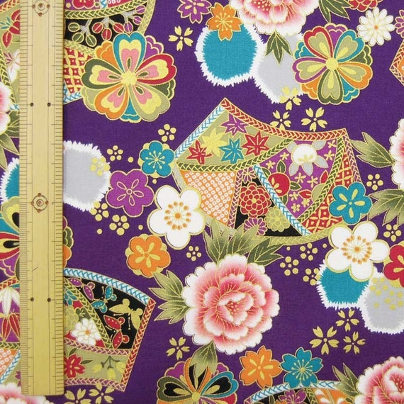 Items similar to japanese kimono design fabric half yard on etsy