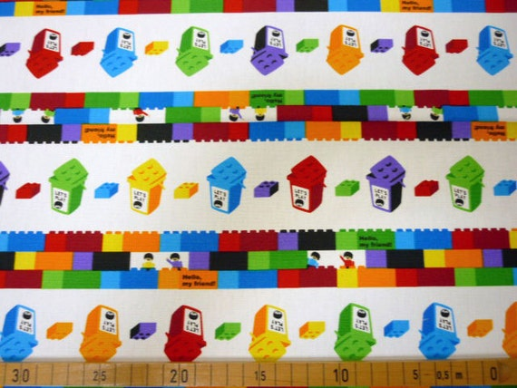 One yard Lego fabric white color Lego block Japanese cotton fabric