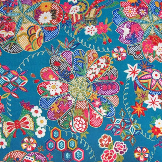Half yard Japanese Kimono design fabric