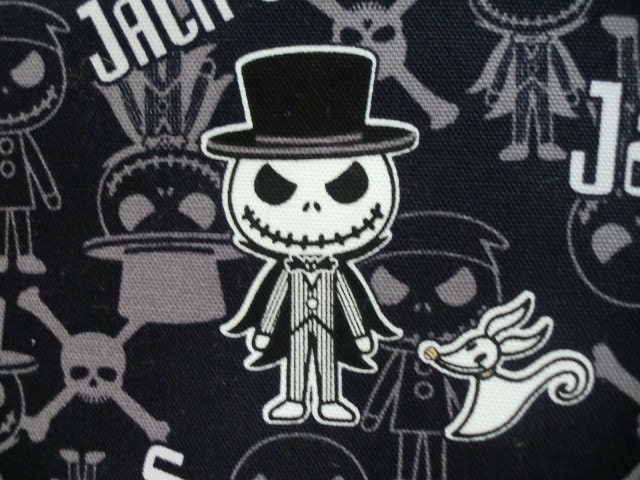 Nightmare Before Christmas Jack's fabric Black by HanamiBoutique