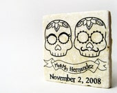 Day of the Dead wedding favors, 1 tile magnet sample