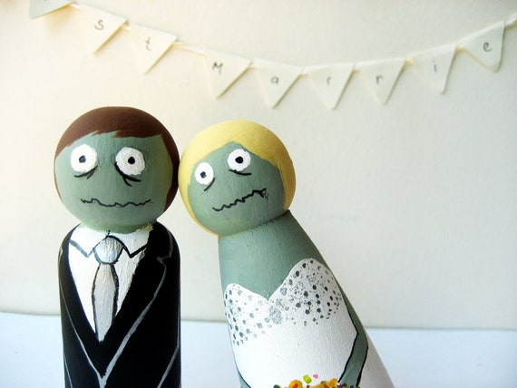 Zombie Cake toppers wedding Custom