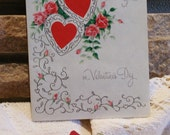 Set of 4 Vintage Valentine Cards..Circa late 50's and early 60's..FREE DOMESTIC SHIPPING...