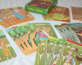 Vintage Old Testament Bible Stories Picture Card Game..1950s..Fairchild..