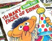 Collection of 3 Fun Sesame Street Little Golden Books..Treasury Item..