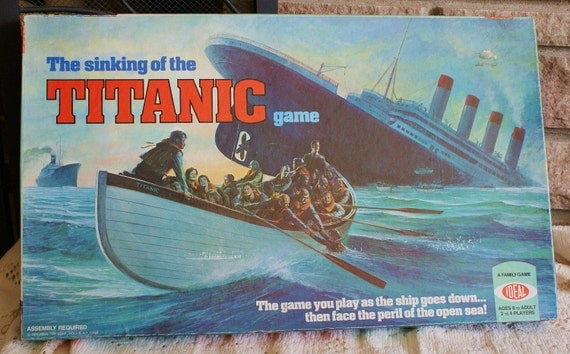Vintage 'The Sinking of the Titanic' board game...1976 Ideal...