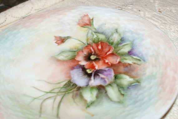 Reserved for Aidiebug OnlyBeautiful Hand-Painted Vintage Plate..Toscany Fine China..