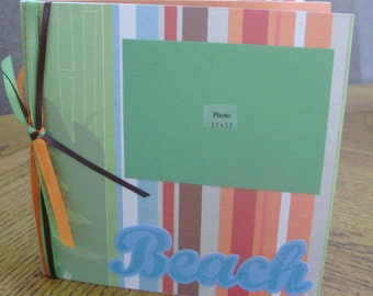 Scrapbooking-Summer Beach 6x6 Permade Photo album