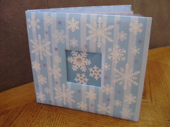 RESERVED for Rachel Sims Christmas 8 x 8 Christmas Snowflakes Album Hot Cocoa Photo Books