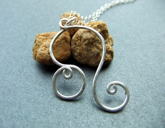 Leo Zodiac Astrology Sign The Lion Necklace Sterling Silver The Lion Hammered Metal Handcrafted Cable Chain Hook Clasp