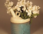 Water Can Flower Vase Turquoise