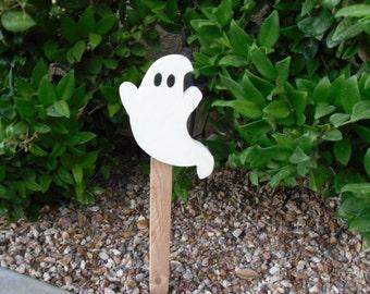 Wooden Halloween Ghost Yard Stake
