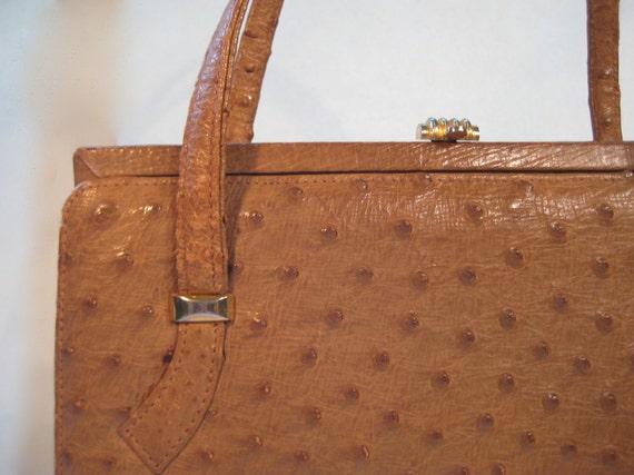 Authentic Ostrich Leather Vintage Purse
