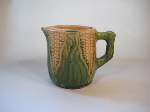 Antique Majolica Corn Cob  Creamer