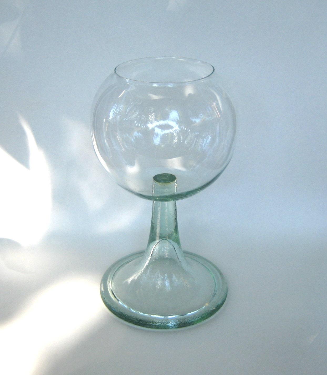 Glass pedestal fish bowl for Fish bowl glass