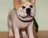 Hand Carved Wooden Custom Sculpture / Ornament of your dog, cat, bird, or other pet