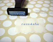 Personalized 0.75 Inch Designer Rubber Stamp -  Square Round Oval Rectangle (Any Shape) - Custom Design
