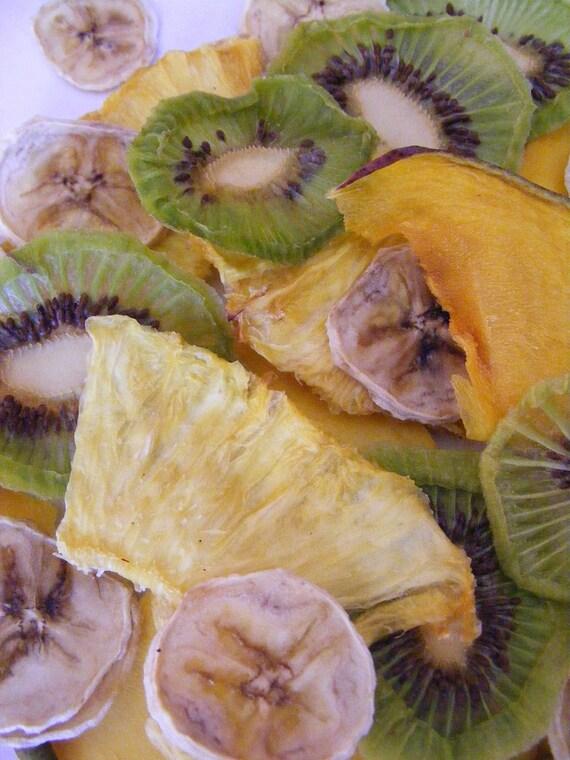 FRESH dried fruit - taste the difference - Tropical fruit mix Kiwi - Banana - Pineapple - Mango