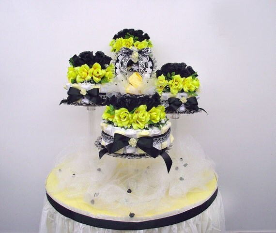 bumble bee baby shower centerpiece yellow black baby. Black Bedroom Furniture Sets. Home Design Ideas