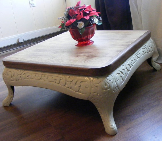 Repurposed Antique Stove Base Coffee Table With Recycled